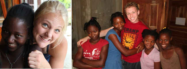 Alex and Kara with Haiti Children