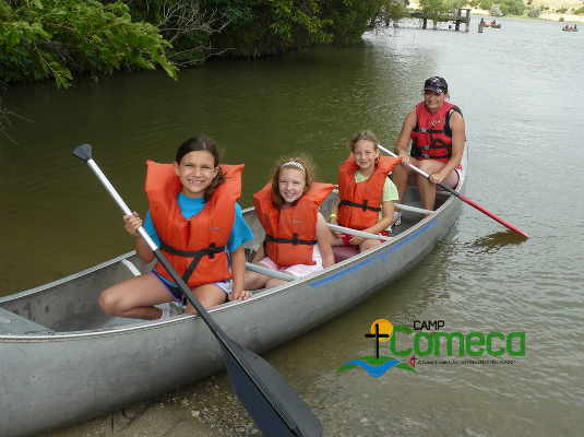 Canoeing at Camp Comeca