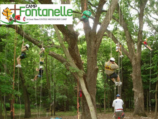 Tree Climbing at Camp Fontanelle