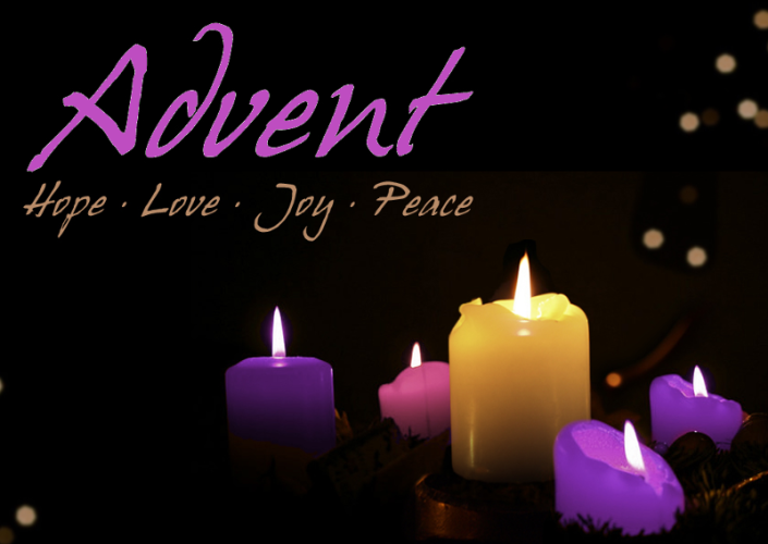 Advent Candles hope love joy peace
