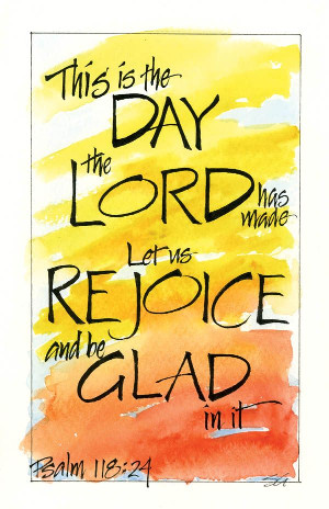 bulletin clipart image Psalm 118:24
