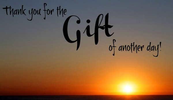gratitiude sunrise